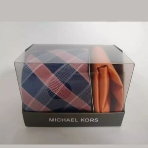 NEW Michael Kors Tie Pocket Square set